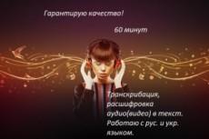 Транскрибация, перевод из аудио, видео, фото, скан в Word 10 - kwork.ru