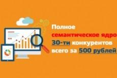 Все важные данные 30-ти конкурентов из Keys.so + бонус 18 - kwork.ru