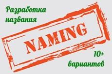 Уникальное название для товара или услуги 20 - kwork.ru