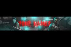 Красочная Шапка + Превью для видео + Логотип для YouTube канала 48 - kwork.ru