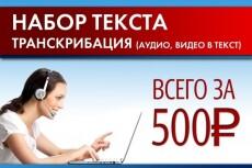 Транскрибация видео, аудио, фото в текст 8 - kwork.ru