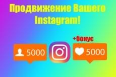 Акция +5500 подписчиков на instagram + 3000 лайков 10 - kwork.ru