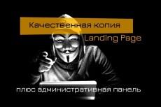 Скопирую страницу любой landing page с установкой панели управления 229 - kwork.ru