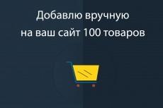Наполнение сайта товарами 16 - kwork.ru