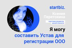 Подготовка полного пакета документов для регистрации ООО 19 - kwork.ru