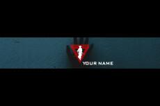 Красочная Шапка + Превью для видео + Логотип для YouTube канала 53 - kwork.ru